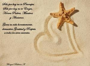 Seastar-Wallpaper-Love-Sign-Wallpaper-Sand