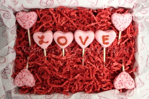 Love Heart Shaped Cake Pops Valentines Day