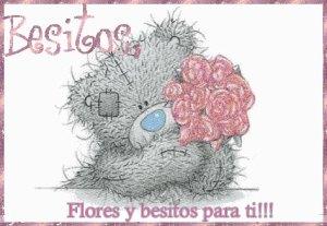 flores y besitos