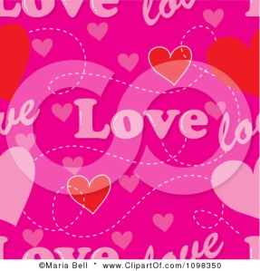 1098350-Clipart-Seamless-Pink-Love-Text-And-Hearts-Pattern-Background-Royalty-Free-Vector-Illustration