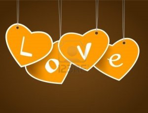 8840557-hanging-hearts-with-love-signature