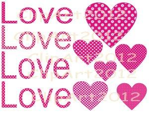 valentine-pink-hearts