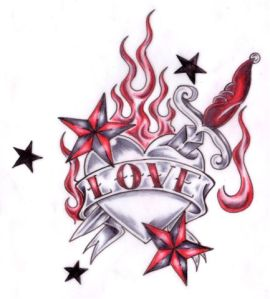 flaming_heart_tattoo