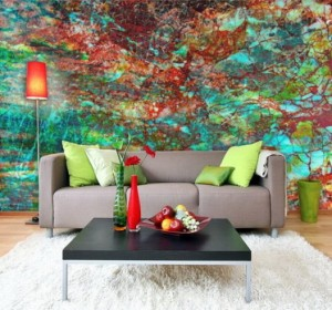 Abstract-Murals-Hand-Painting-in-the-Rilex-Living-Room-527x492