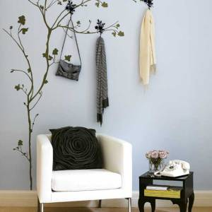 Awesome-tree-flower-stencil-wall-decor-ideas