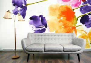 Lavender-Wall-Mural-Decoration