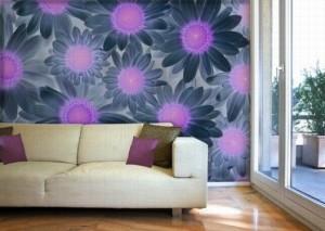 Sun-Flower-Wall-Murals-Design-in-Bedroom-527x375