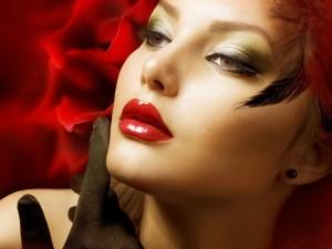 Wallpaper-girl-face-lips-lipstick