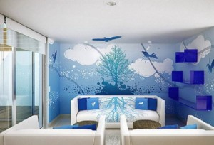 White-Living-Room-Ideas-with-Blue-Painting-Murals-527x359