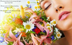 Woman-love-Flower